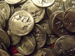 1 Hand Carved Hobo nickel Skull unsigned Random pick free mail ONE COIN $18.50