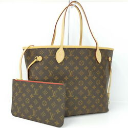 Louis Vuitton Never Full Mm Tote Bag Monogram Sleeve With M41177 With Pouch