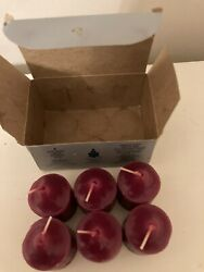 Partylite 6 Votive Candles Cranberry Party Lite Never Used
