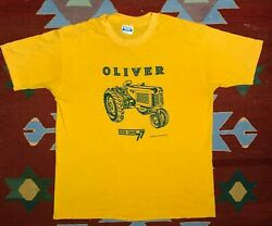 Vintage Tractor T Shirt Oliver 77 Hanes Xl 1989 Single Stitch Usa Made In Usa