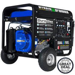 Electric Start Dual Fuel Powered Portable Generator Outdoor Power Equipment Neww