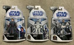 Star Wars Black Series The Clone Wars Set Of 3 Target Exclusive Tcw Nm-sold Out