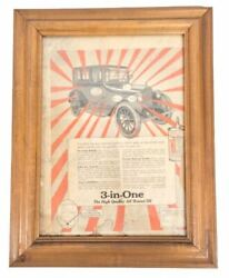 Three-in-one Oil Company Ca 1910 3-in-one Handy Oil Print Advertisement Framed