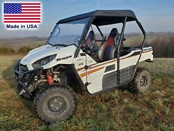 Roof And Hard Windshield For Kawasaki Teryx 800 - Vent Or Solid Windshield