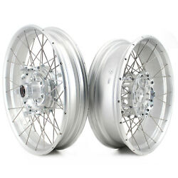 Vmx Racing 3.0/4.5 Tubeless Wheel Fit Bmw R1200gs R1250gs Adventure 13-20 Silver
