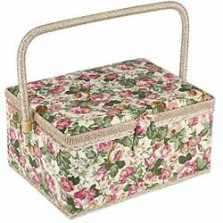 Large Sewing Basket With Accessories, Sewing Organizer Box For Sewing Supplies