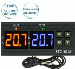 Dual Digital Thermostat Temperature Controller Thermometer Switch Hygrometer