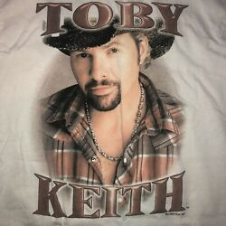 Toby Keith Big Dog Daddy Concert Tour 2007 T-shirt Medium Country Music