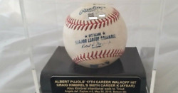 Albert Pujols Walkoff Hit And Kimbrel 500th Career Strikeout Ball Mlb Authand039d