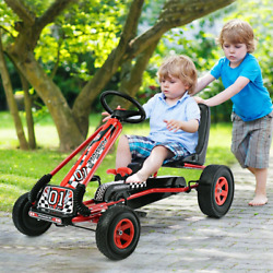 4 Wheels Kids Ride On Pedal Powered Bike Go Kart Racer Car Outdoor Play Toy