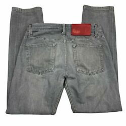 Naked And Famous Denim Mens Gray Straight Leg Weird Guy Button Fly Jeans 30 X 30