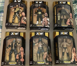 AEW Unrivaled Series 5 Complete Set Of 6 Wrestling Figures Luchas Moxley Jungle