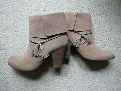 American Eagle Outfitters New Womens 7.5 Beige Leather Suede Ankle Boots