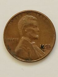 1958 D - Us Lincoln Wheat Rare Penny Coin Collectible