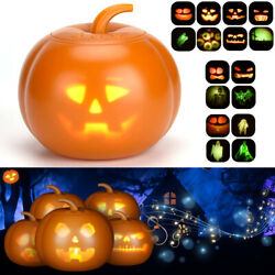 Led Halloween Flash Talking Singing Animated Pumpkin Projection Lamp Party Decor