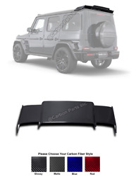 W463a Mercedes Carbon Fiber Rear Roof Spoiler Wing Brabus Style G-class W463w464
