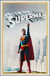 Commercial Poster Superman The Movie 1978 Vf+ 8.5 23x36 Christopher Reeve