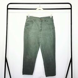 Bill Blass Jeans Vintage 90s Forest Green Easy Fit Short Inseam Jeans Size 14