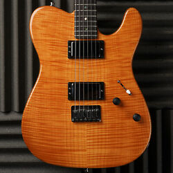 Fender American Deluxe Telecaster Fmt Hh With Rosewood Fretboard 2004 Amber