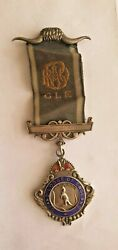 Vintage Masonic Sterling Silver Medal And039and039grand Lodge Of Englandand039and039 1931