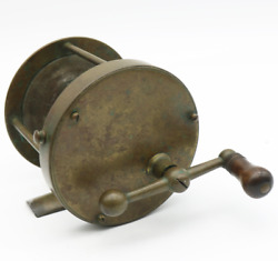 Antique Bradford And Anthony Boston Brass Ball Handle Fishing Reel Circa 1870and039s