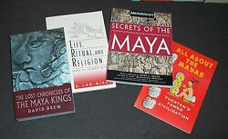4 Maya Books Secrets, All About, Lost Chronicles, Life Ritual Religion Lacandon
