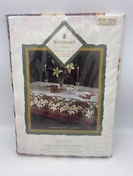 New Waterford Linens Christmas Lilies Oblong 60 X 84 Table Cloth Jb433 Sealed