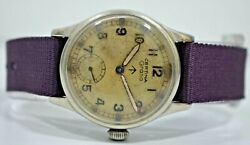 Vintage Certina Side Second 32mm Hand Winding 15 Jewels Menand039s Wrist Watch Ir227