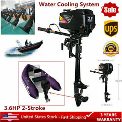 2 Stroke 3.6hp Outboard Motor Water Cooled Fishing Boat Parts Petrol Engine Usa