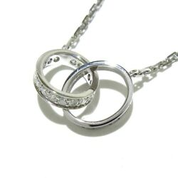 Auth Baby Love 18k White Gold Diamond Os2998 Necklace