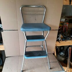 Vintage Blue Cosco Kitchen Step Stool/ Chair