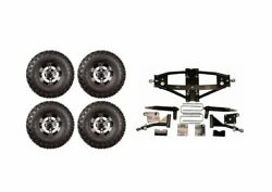 Lift Kit Combo With 10.  Colossus Wheels For Club Car Precedent Golf Carts