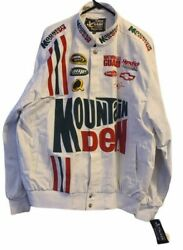Dale Earnhardt Jr Mountain Dew Jacket Xl Nascar Racing Vintage New With Tags