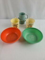 Lot Of 1930's Beetleware Skippy Cereal And Orphan Annie Ovaltine + Mr. Peanut Cup