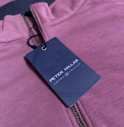 Peter Millar Crown Crafted Menand039s L Bullseye Precision Wool Quarter-zip Pullover