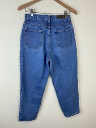 Vtg 90s Bill Blass Easy Fit Jeans 28x26 Actual High Waist Tapered Leg Mom Jeans