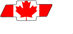 Chevy Bow Tie Canadian Flag 3x8 Decal/sticker Free Shipping