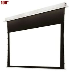106 169 Motorized Projection Screen 4k Uhd Recessed Ceiling Mount Home Theater