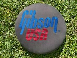 Gibson Usa Guitars Bar Stool Top, 360 Degree Spin, Embroidered, Vintage, Rare