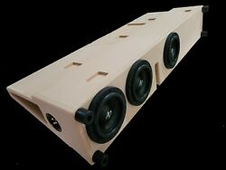 Ported Toyota Tacoma Sub Box W/subs Fits 2005 Up To 2021 Behind The Rear Seat