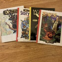 Lot Of 4 Exalted Books Rpg White Wolf Story Tellers Companion Dawn And 3 Circles