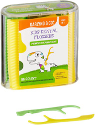 Darlyng And Co Kids Fun Dental Flossers For Healthy Gums   Dolphin And Dinosaur Desi