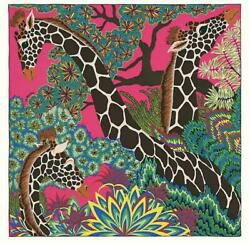 Hermes Shawl Scarf Stole The Three Graces Animal Cashmere Silk Woman New 140 Cm