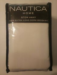 Nautica Home 42 Inch Home Dorm Bed Skirt Extra Long College Twin XL New