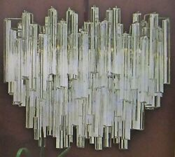 Vintage Murano Venini Glass Labeled Camer Nyc Oval Chandelier C 1970s