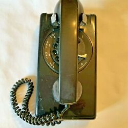 Vintage Western Electric Rotary Wall Telephone Phone Is Black For Parts Only
