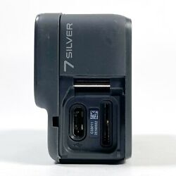 Gopro Hero 7 Silver Action Camcorder 4k Ultra Hd Camera For Parts/repair