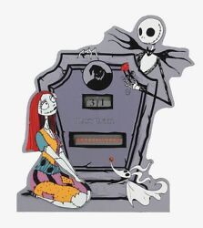 The Nightmare Before Christmas Jack And Sally Countdown Tombstone
