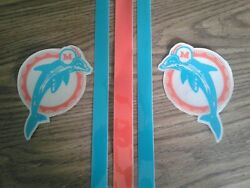 Miami Dolphins Full Size Throwback Football Helmet Decals Set
