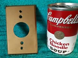 Vintage G.e. 30's 40's Brass Round Outlet Wall Floor Cover Plate